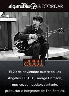 Hoy se conmemora el aniversario luctuoso de George Harrison (@pa_recordar)