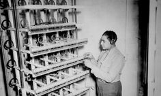 """""""Marine Cpl. Robert L. Hardin...checks the main distributing frame in Montford Point's headquarters for line difficulties."""" N.d. 127-N-8768. - See more at: https://www.mca-marines.org/leatherneck/gallery/first-african-american-marines-enlist#sthash.Mp67AMjX.dpuf"""