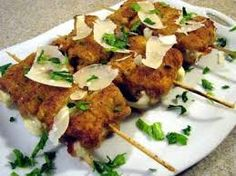 Enjoy our collection of online recipes from kitchens like yours. Browse breakfast recipes, lunch recipes, dinner recipes, dessert recipes and more. Veal Recipes, Dinner Recipes, Cooking Recipes, Veal Cutlet, Skewers, Italian Recipes, Entrees, A Food, Food Processor Recipes