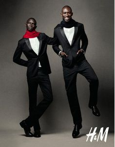 With his brother Armando (R). H&M Holiday 2010 Campaign (H&M)