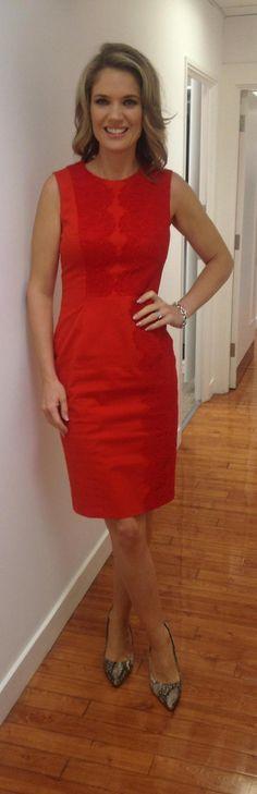 .@GMB @CharlotteHawkns wears @KarenMillen dress @nextofficial shoes! #styledbydeb