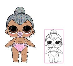 Lil Cheeky Babe LOL Surprise Doll Series 3 Coloring Page