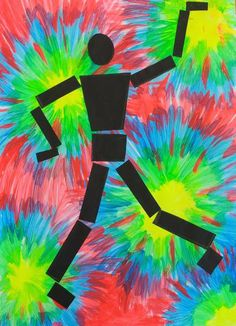 dreampainters (2011): Disco Dancer. Neon acrylic and cut paper.