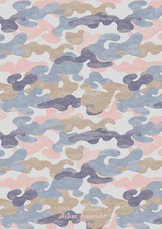 Atelier Hirundo / Elise Enjalbert / Copyright 2016 / #pattern #patterndesign #surfacedesign #illustration #motif #print #graphic #camouflage