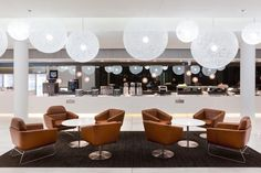 Quantas lounge in Canberra Australia, by an architecture firm called Woods Baggot Princess Of China, Airport Design, Interior Architecture, Interior Design, Showroom Design, Restaurants, Airport Lounge, Artwork For Home, Lounge Design