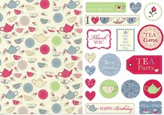 Alison Butler's Tea Party Papers & Sentiments - Free Card Making Downloads | Card Making | Digital Craft – Crafts Beautiful Magazine