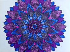 Swirl mandala by Laurie Fahlman