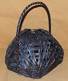 Japanese Antique Ikebana Bamboo Flower Basket c.1910