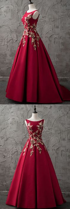 2018 new burgundy satin modest prom dress