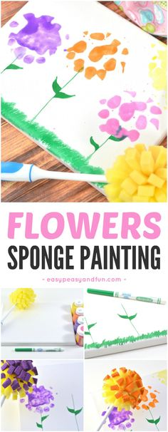 Flower Art Projects For Kids Spring Activities 53 Ideas Spring Art Projects, Toddler Art Projects, Spring Crafts For Kids, Projects For Kids, Craft Projects, Summer Crafts, Spring Activities, Art Activities, Toddler Activities