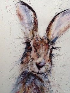 New Ideas For Watercolor Art Spring Watercolour Art And Illustration, Illustrations, Bunny Painting, Painting & Drawing, Animal Paintings, Animal Drawings, Watercolor Animals, Watercolor Paintings, Watercolours