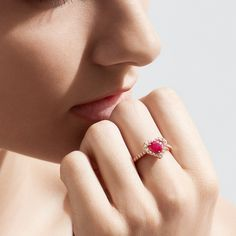 July born babies… Here is where you can find your heart… in this Ruby Ring… . July Born, July Birthstone, Effy Jewelry, Ruby Red, Birthstones, Gems, Stud Earrings, Creative, Heart