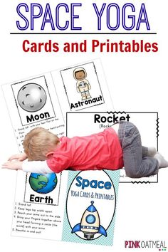 Kids yoga with a space theme!  Pose like the moon or a rocket!