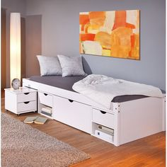 Camila Single Bed with Drawers, Bed Frame With Drawers, Bunk Beds With Drawers, Bed Frame With Storage, Single Bunk Bed, Single Bedroom, Boys Single Bed, Minimal Bedroom Design, Single Beds With Storage, Luxury Bedroom Furniture