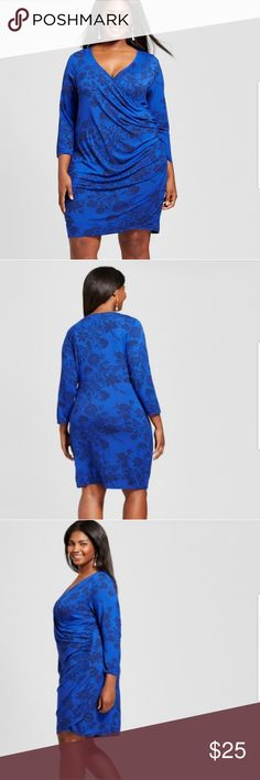 Ava & Viv size 1x blue floral knit wrap dress nwts You'll look as gorgeous as you feel when you put on this Knit Wrap Dress from Ava & Viv™. In striking cobalt blue, this dress is a great addition to your wardrobe when you need a go-to outfit for events. Mix up your jewelry every time you wear it to keep your style current and fresh.    Sizing:  1X (16/18)  BUST 43-45 INCHES  WAIST 38-40 INCHES    Please check out the pics and feel free to contact me with any?'s or to make an offer Ava & Viv…