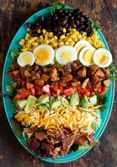 BBQ Chicken Cobb Salad by  Homemade Recipes at http://homemaderecipes.com/bbq-grill/19-memorial-day-recipes