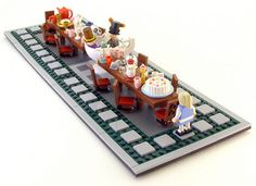 """LEGO Mad Hatter Tea Party- Alice in Wonderland"" (not mine)"