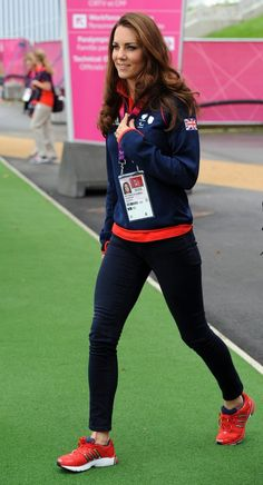 "Channeling and athletic spirit at the Paralympics, the Duchess went the laid-back route in J Brand's ""811"" mid-rise skinnies."