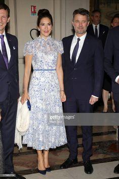 News Photo : Crown Prince Frederik of Denmark and Crown. Denmark Fashion, Prince Frederik Of Denmark, Prince Frederick, Danish Royal Family, Danish Royals, Evening Dresses, Formal Dresses, Crown Princess Mary, Mary Elizabeth