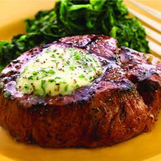 Filet Mignon with Shallot Butter Recipe - Key Ingredient Steak Recipes, Cooking Recipes, Easy Cooking, Good Food, Yummy Food, Filets, Butter Recipe, Beef Dishes, Favorite Recipes