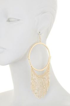 platinum-finds ~ Products ~ Natasha Accessories Large Hoop With Fringe Earrings ~ Shopify