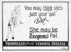 Anti prostitution posters from World War 2