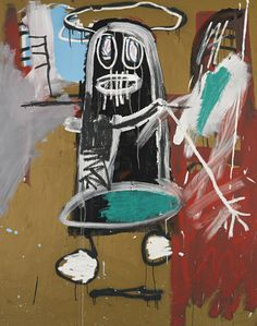 JEAN-MICHEL BASQUIAT THIRTY-SIXTH FIGURE acrylic on canvas 60 by 48 in. 152.4 by 121.9 cm. 1983.