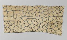 African, Bark loincloth (pongo), Mbuti peoples, 1930's, Congo, beaten bark with vegetal pigment