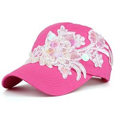 AKIZON Hot Pink Baseball Cap for Women with Pearls and Fl... https://www.amazon.com/dp/B072PYGNRY/ref=cm_sw_r_pi_dp_x_e1FGzbJ40A8PD