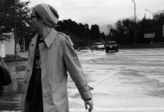 《CoyoteBand On The Road...》 飛行機で宮崎空港に降り立ったコヨーテバンド。ツアー後半、九州シリーズの始まりだ。 (撮影 : 佐野元春) Raincoat, Jackets, Fashion, Rain Jacket, Down Jackets, Moda, Fashion Styles, Fashion Illustrations
