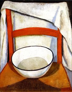 Chair with Bowl and Towel / Roger Fry - circa 1917-1918