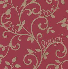 Love Tree Red / Gold wallpaper by Albany