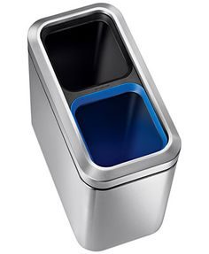 ingenious home recycling bin ideas. simplehuman Brushed Stainless Steel 20 Liter Fingerprint Proof Slim Dual  Recycler Trash Can Compartment Step on Recycling Bin by Organize It All