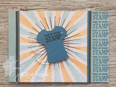 Jackie Noble | CreativeJax Feb 2017 Colour INKspiration-CI03 Designer Tee, T shirt Builder, Custom tee, Sunburst, Sponge Brayer #stampinup #handmadecards #CI03