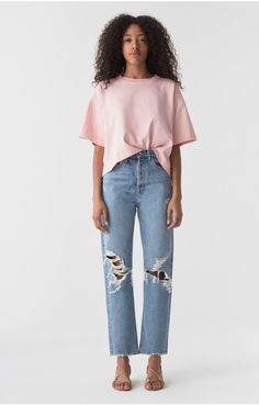90s Mid Rise Loose Fit in Fall Out