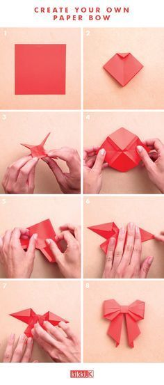 Decorate your gifts with this gorgeous DIY origami paper bow. Click through to see how to make it. #OrigamiLife