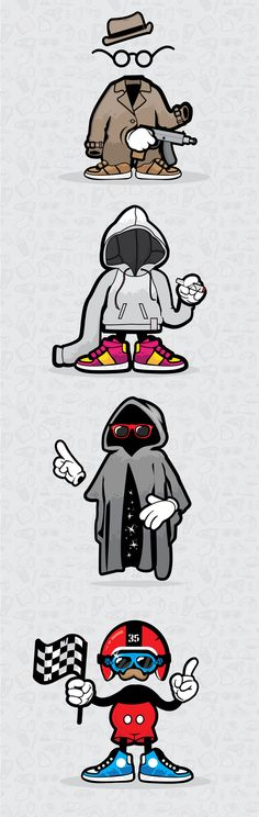 Character design by Justyna Olejniczak, via Behance