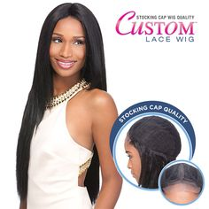 Sensationnel Stocking Cap Quality Custom Lace Wig - YAKI 30 (Hand-Tied Part w/ Multiple Parting Option) [8378]