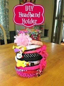 DIY Upcycled Duct Tape Headband Holder #Craft | This Mama Loves