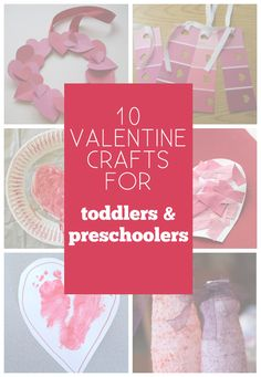Fabulous valentine crafts for even the smallest crafter.