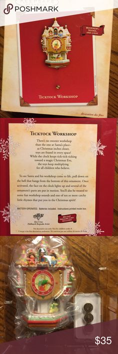 NIB! Ticktock Workshop. Hallmark Keepsake ornament This has never been used or removed from the box until I took pictures. It has movement, sound & light. Handcrafted & dated 2004. Comes with 3 batteries & instructions. Hallmark Other