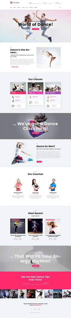 Dance website inspirations at your coffee break! Browse for more WordPress #templates! // Regular price: $75 // Sources available:.PHP, This theme is widgetized #Dance #WordPress #Class #Training