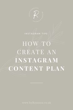 How to Create an Instagram Content Plan | Instagram Marketing Tips | byRosanna Design #instagrammarketing #instagramtips #contentmarketing Social Media Content, Social Media Marketing, Digital Marketing, Content Marketing, Mobile Marketing, Marketing Strategies, Marketing Ideas, Business Marketing, Email Marketing