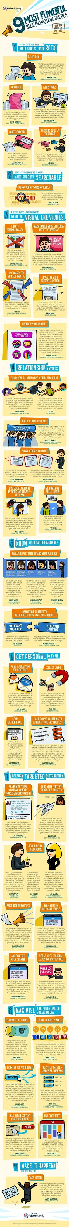 The 9 Most Powerful #Blog Promotion Tactics [#Infographic]