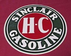 Sinclair-H-C-Gasoline-12-034-Vinyl-Gas-amp-Oil-Pump-Decal-Vintage-Advertising