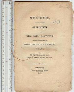 Rare 1811 Early Sermon