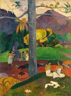 Paul GauguinMata Mua (Érase una vez), 1892Óleo sobre lienzo. 91 x 69 cmColección Carmen Thyssen-Bornemisza en depósito en el Museo Thyssen-Bornemisza