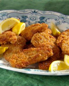 [This sounds DELICIOUS] In this updated version of classic pork schnitzel, thin slices of pork tenderloin are coated in Dijon-mustard-infused eggs before being breaded and fried until golden. Breaded Pork Tenderloin, Pork Tenderloin Medallions, Mustard Pork Tenderloin, Pork Tenderloin Recipes, Pork Chops, Pork Tenderloins, Amish Recipes, Pork Recipes, Cooking Recipes