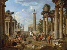 Каприччо с римскими руинами 89х119, частное собрание
