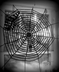 Crochet spider web.. made one last year... need a bigger one!